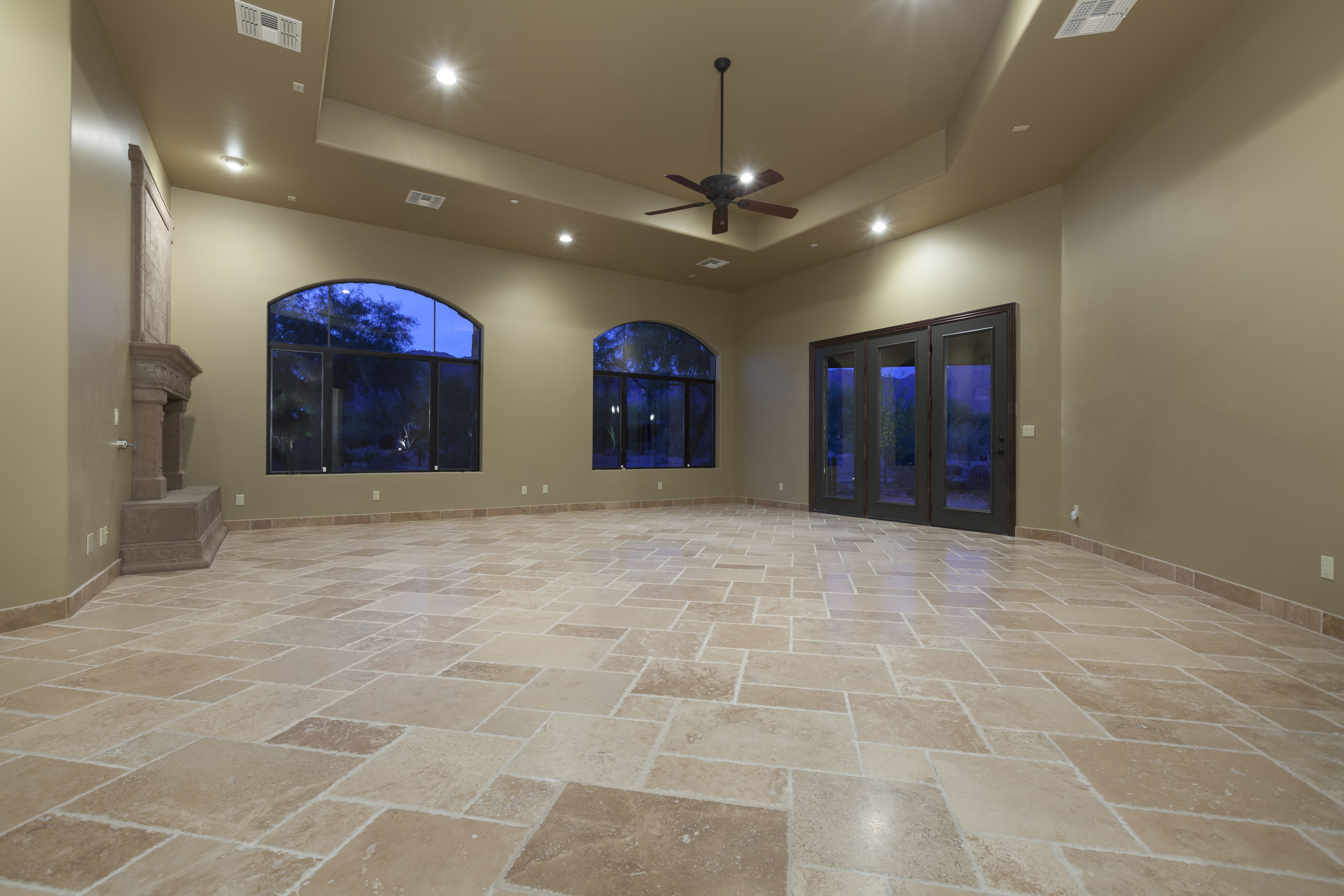 How to clean and care for rubber floor tiles heres a how to guide to cleaning travertine flooring dailygadgetfo Gallery
