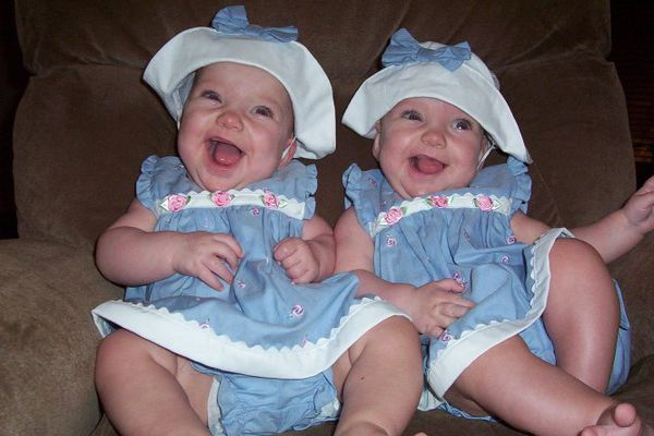 Six month old MoMo twins, Grace and Isabella