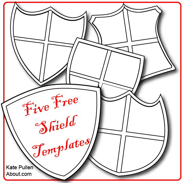 Classroom Decor Dogs ~ Five free shield templates for cards and scrapbook pages