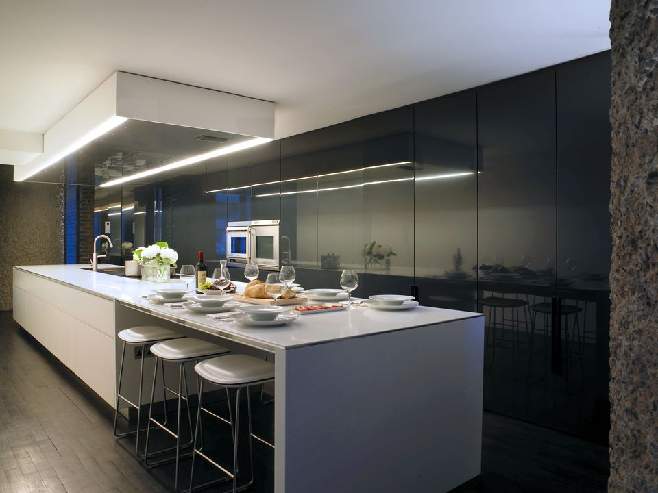 Kitchen in Barbican Apartment, London, UK.