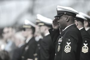 A member of the U.S. Navy