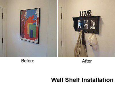 wall shelf installer