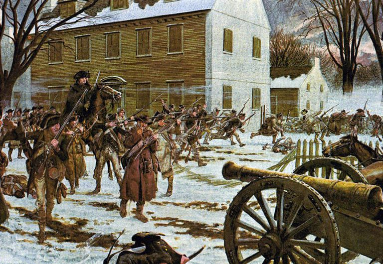 the american revolutionary war the battles of trenton and princeton Small groups of american soldiers had succeeded in slowing cornwallis' march from princeton to trenton, but the british force arrived en masse in the late afternoon the armies were facing each other from 200 yards (200 m) apart with only the creek and the bridge in between.