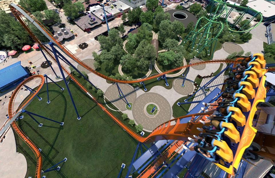 Valravn - Preview of Cedar Point 2016 Roller Coaster Dive