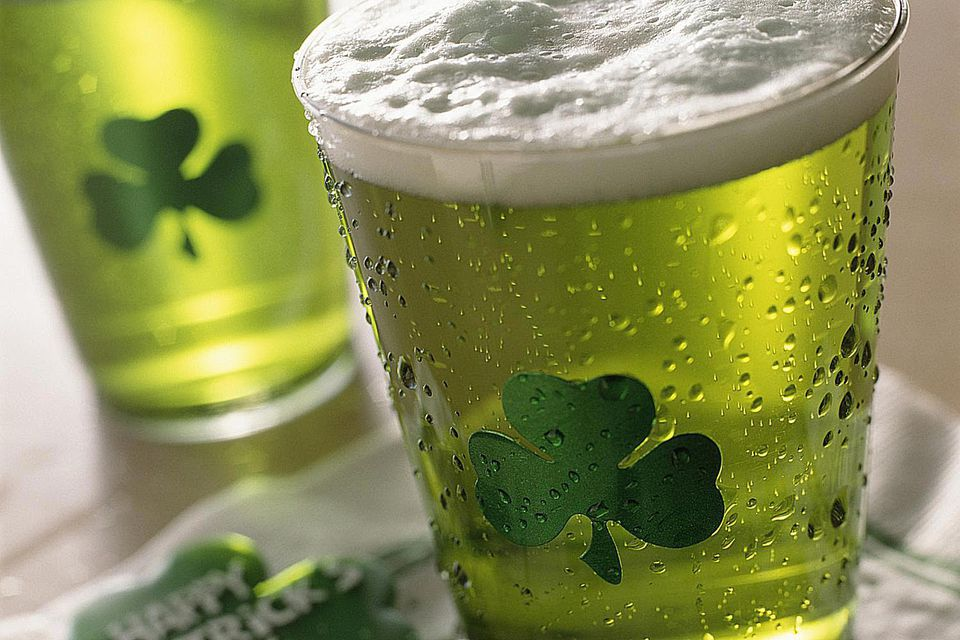 Close Up of Green Beer