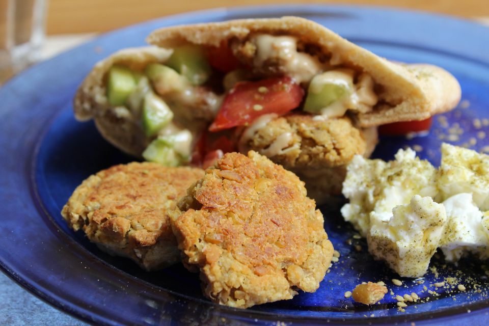 Baked Chickpea Fritters