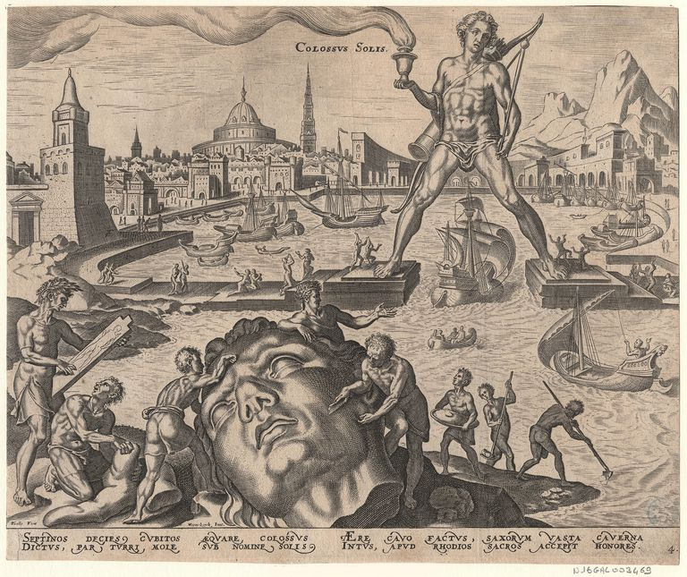The Colossus of Rhodes, an Ancient Wonder of the World