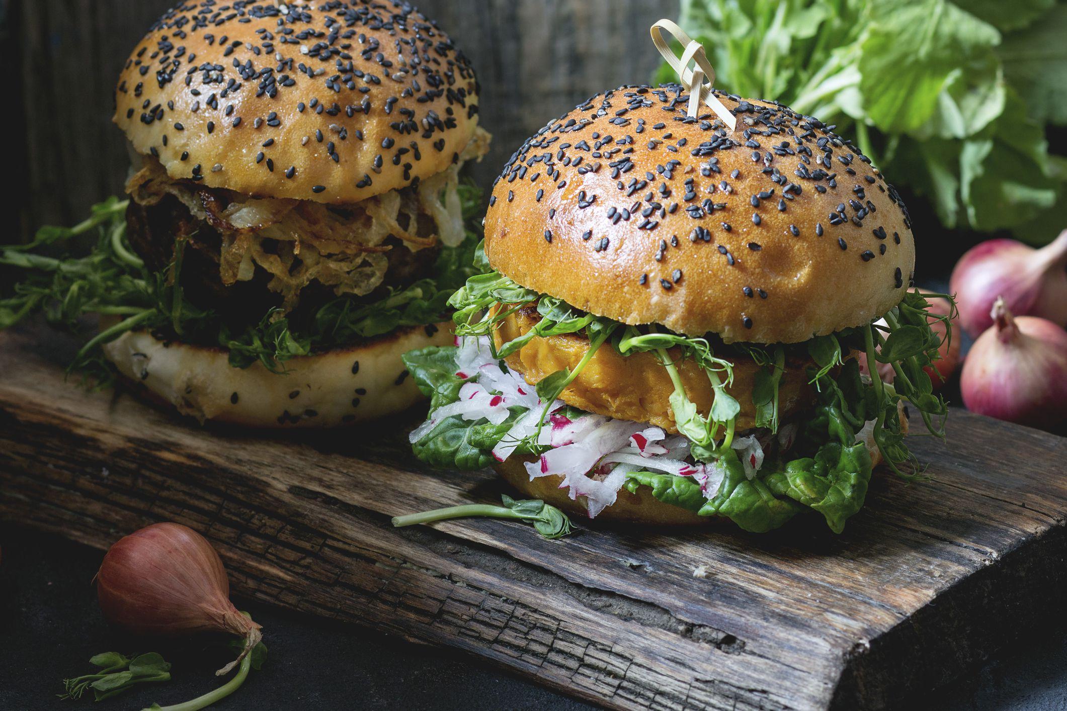 Vegetarian And Vegan Sweet Potato Veggie Burgers With Quinoa