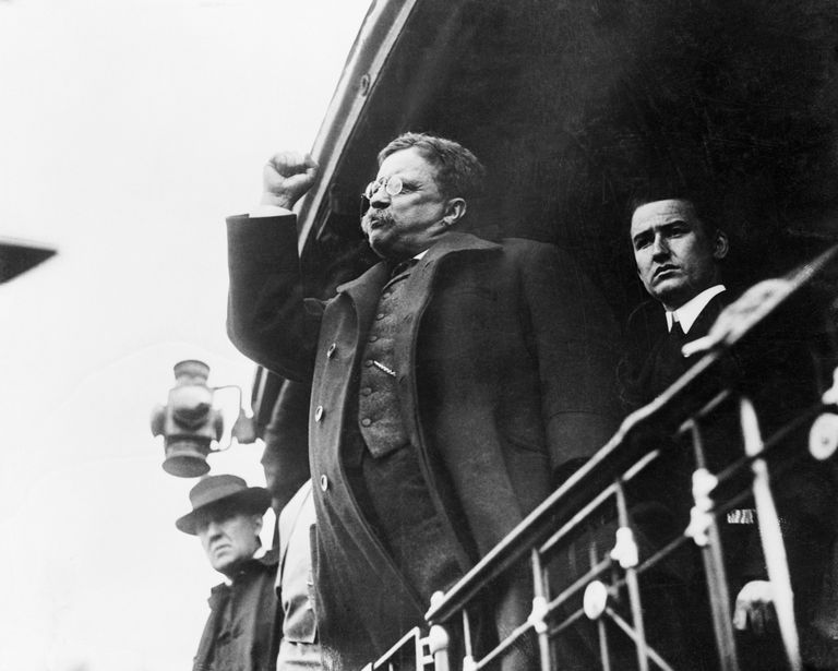 Theodore Roosevelt Giving Campaign Speech