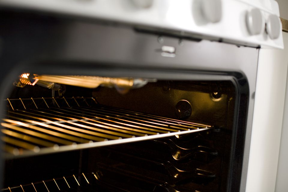 Grill inside oven, close-up