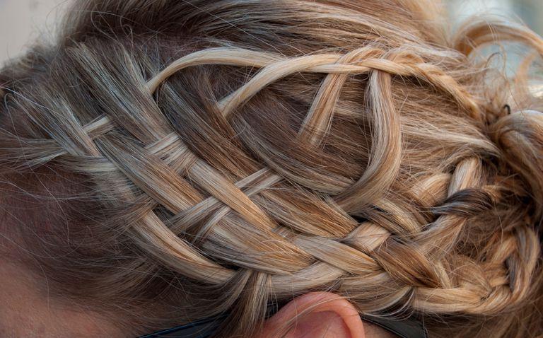 A woman with braided hair.
