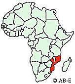 Where in Africa is Mozambique?