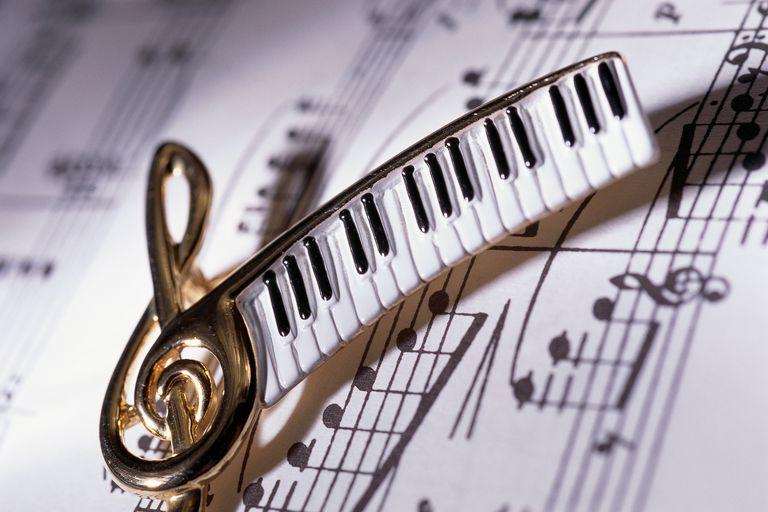 Teclas de piano y notas musicales