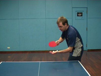 Photo of FH Pendulum Sidespin Serve - Ready Position