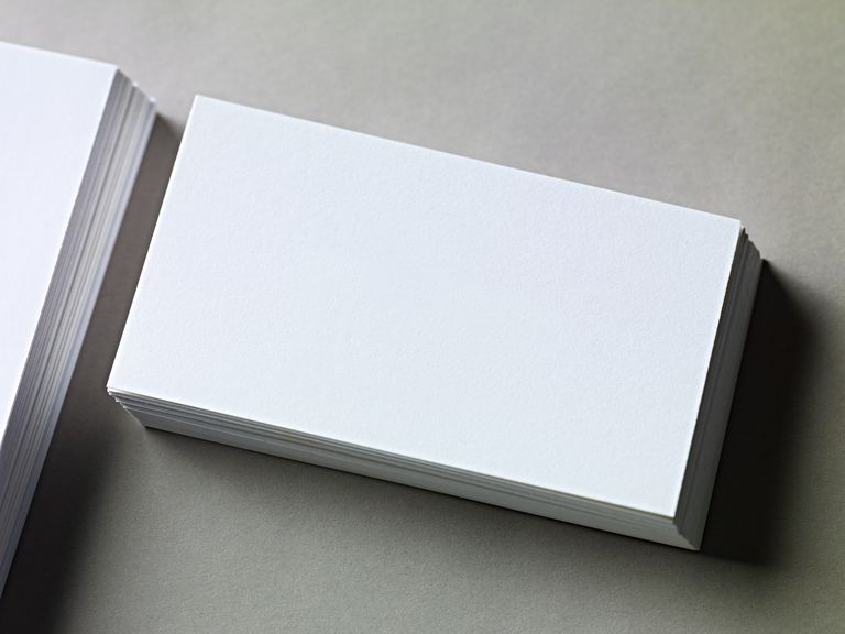 Free Blank Business Card Templates - Plain business card template