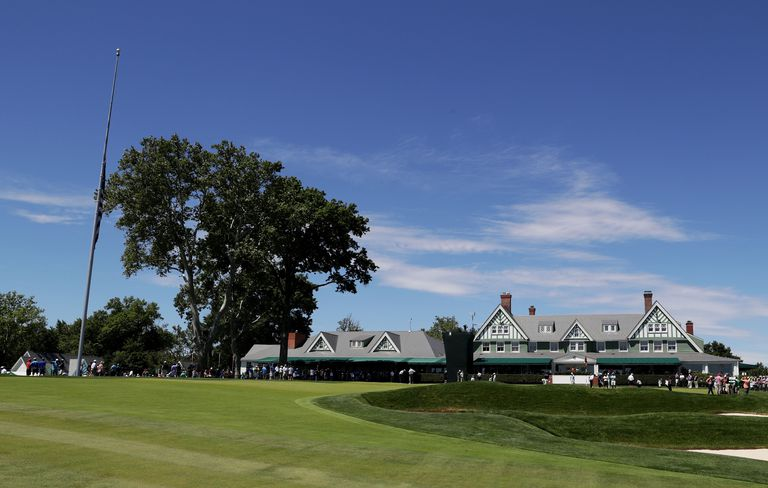 A view of the clubhouse at Oakmont Country Club