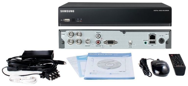 Samsung SDS-P3040N 4 Channel DVR (DVR only) with 500GB HDD