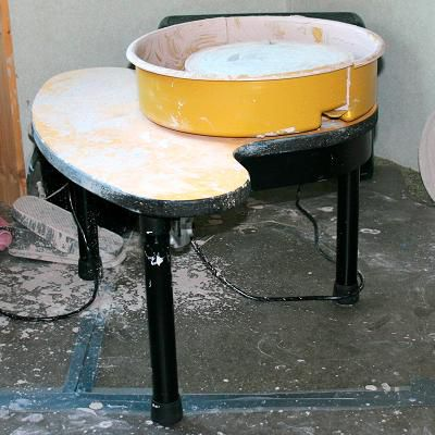One example of an electric potter's wheel.