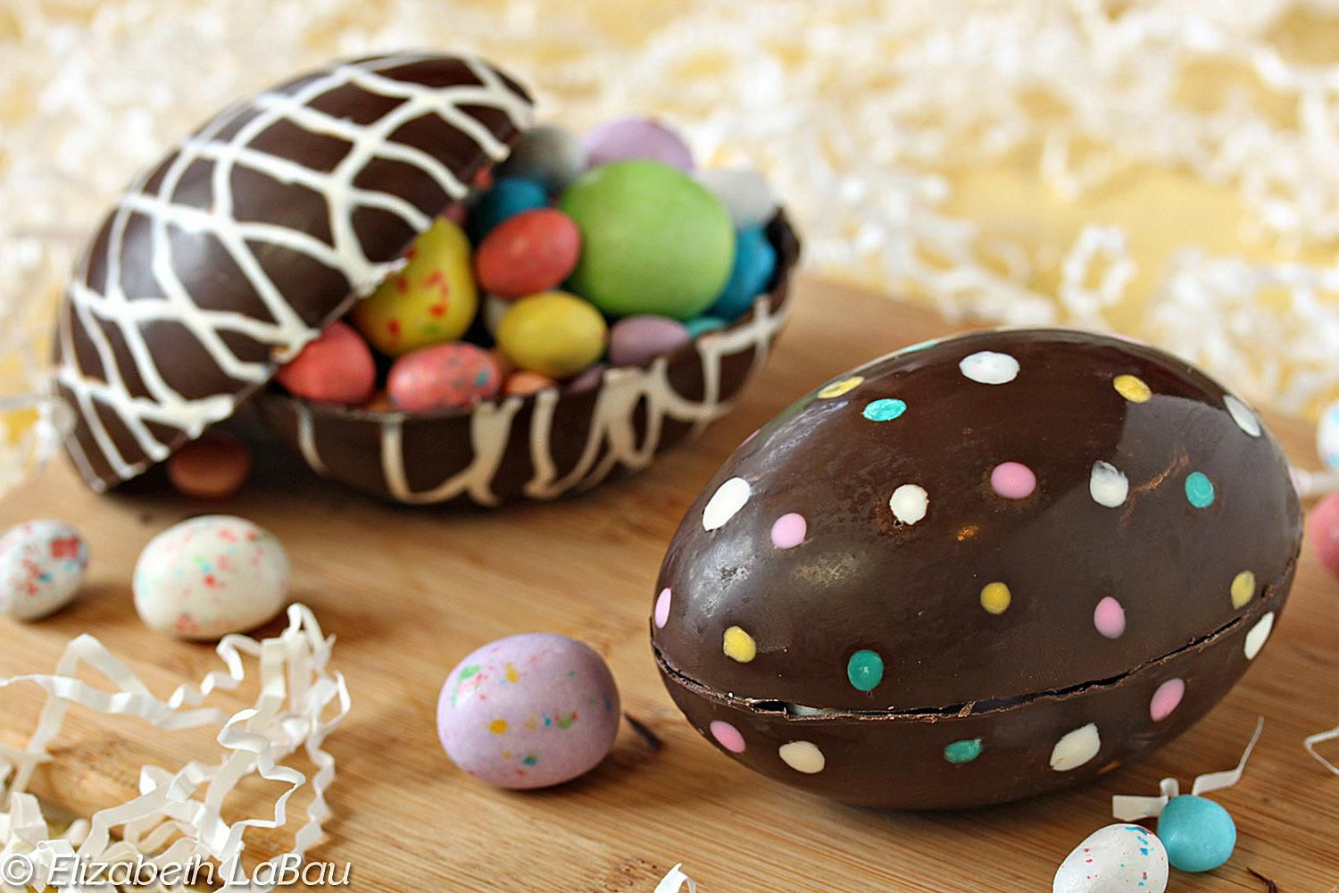 Try this elaborate sugar easter eggs recipe hollow chocolate easter eggs are perfect for easter gifts negle Gallery