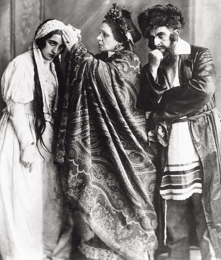 A scene from the play The Dybbuk