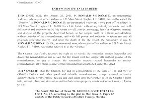 Enhanced life estate deedsdefinition and rules florida enhanced life estate deed solutioingenieria Gallery