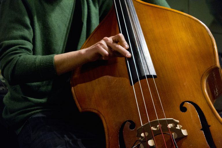 Upright Bass Jazz Instrument