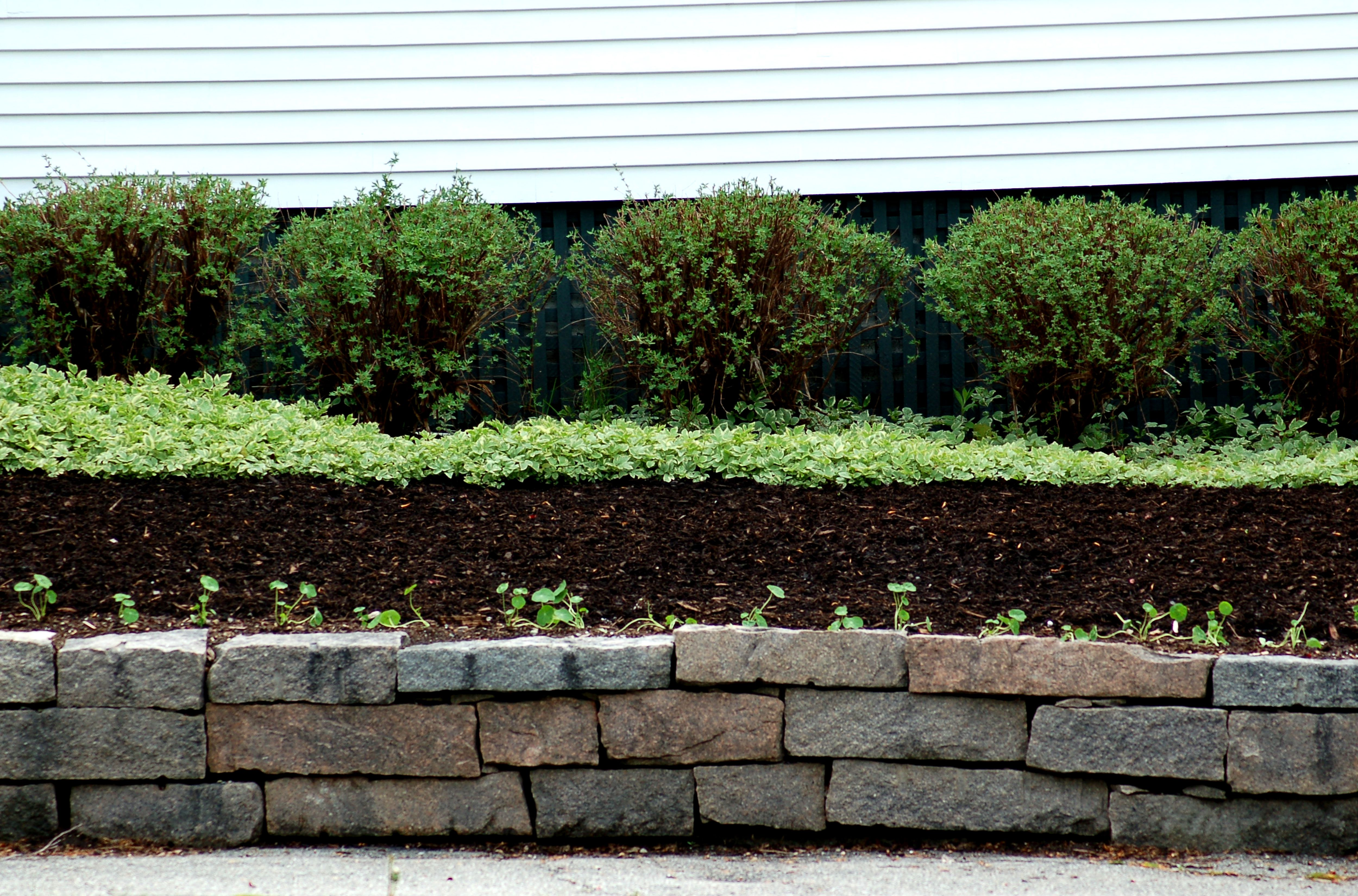 abbey mulch garden demonstration pollinator installed glen at