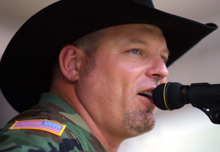 Country music singer John Michael Montgomery gives an emotional rendition of his latest hit,