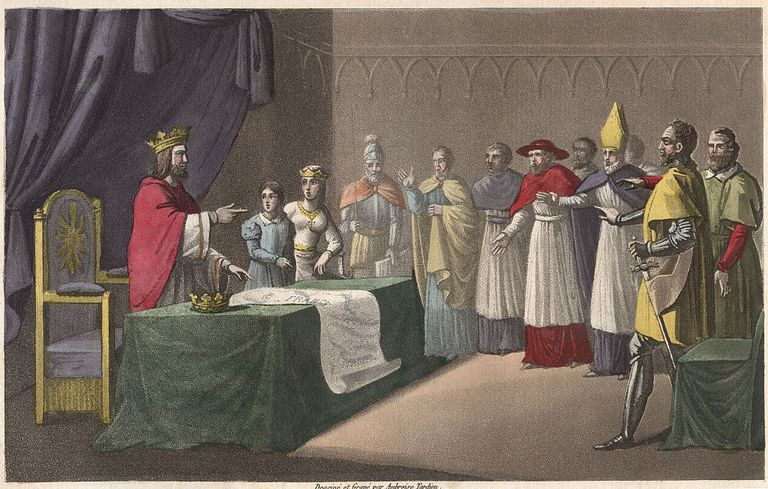 Louis I the Pious, conducts a division of the kingdom among his children