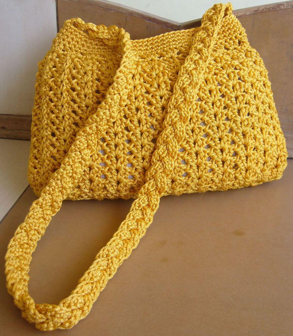 Braided Crochet Purse