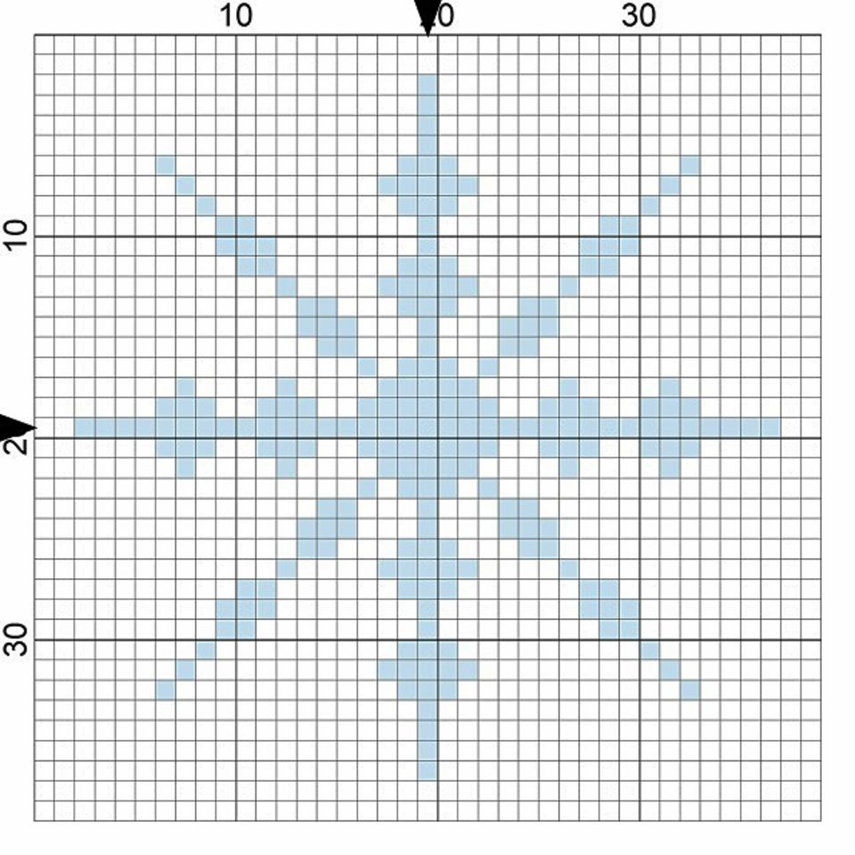 snowflake needlepoint chart image