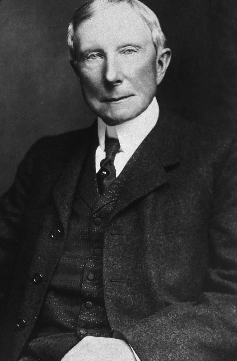 bio of john d rockefeller first american billionaire picture of industrialist and philanthropist john d rockefeller