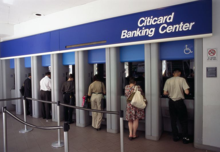 ATMs at a Citibank Branch
