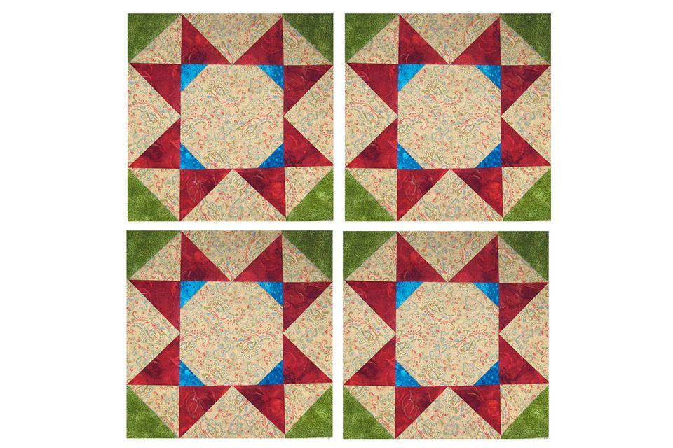 Rolling Stars Quilt Block Pattern