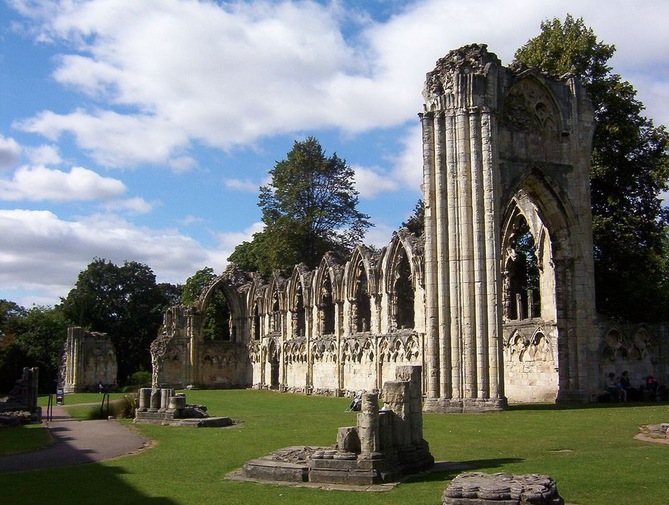 St. Mary's Abbey in York.