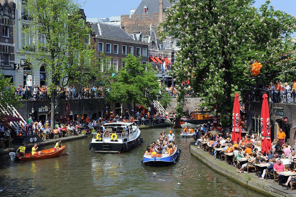 Dutch Queens day orange folklore.