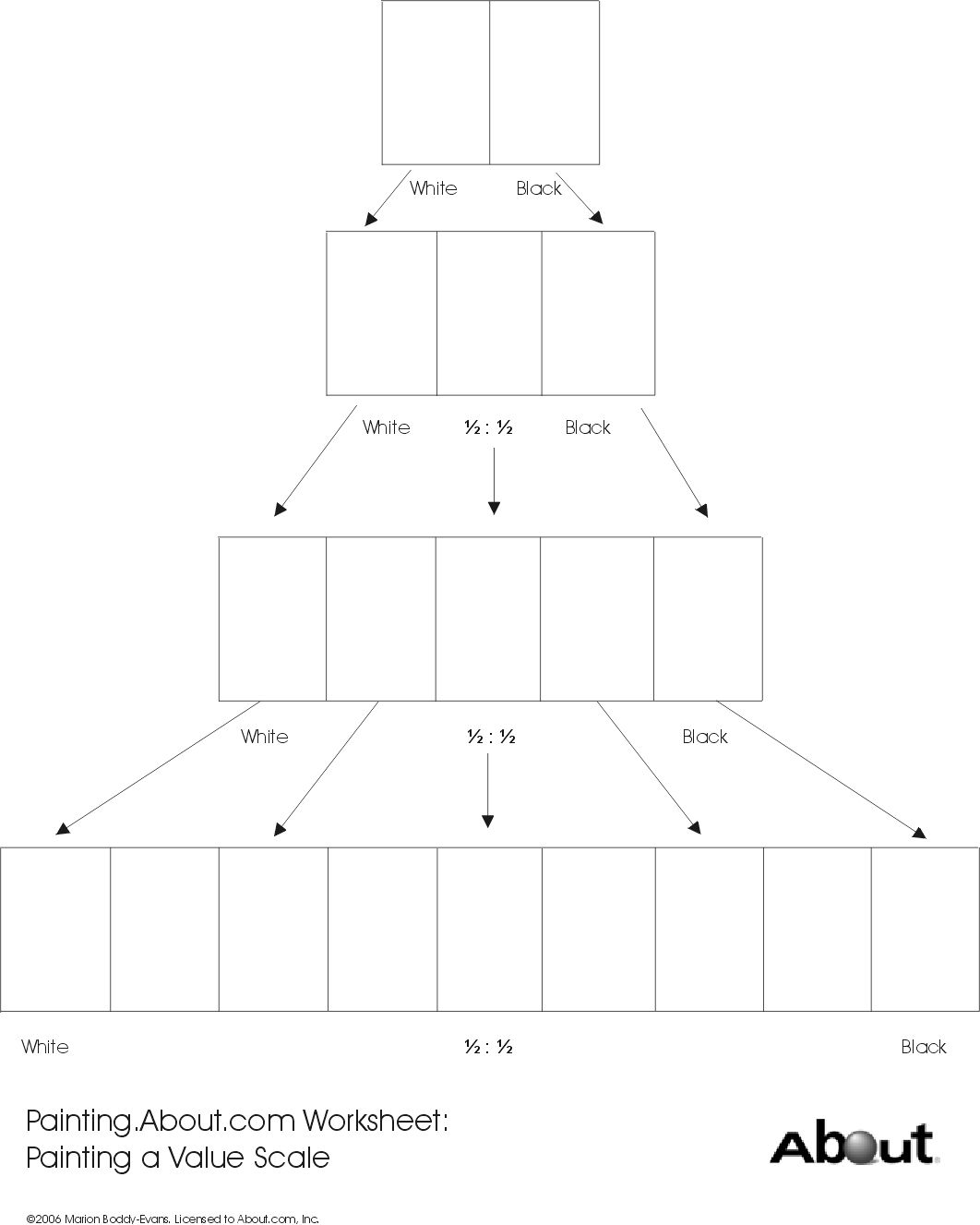 Worksheets Value Scale Worksheet free printable art worksheets