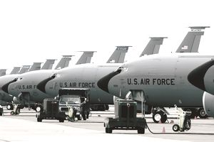 KC-135 Stratotankers from various units are at Eielson Air Force Base, Alaska, for Exercise Northern Edge 2006, a joint training exercise.