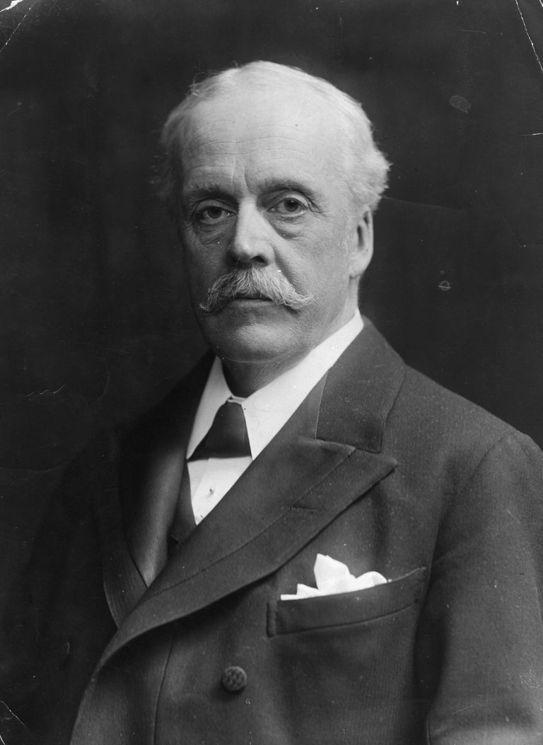 A picture of Scottish statesman Arthur Balfour.