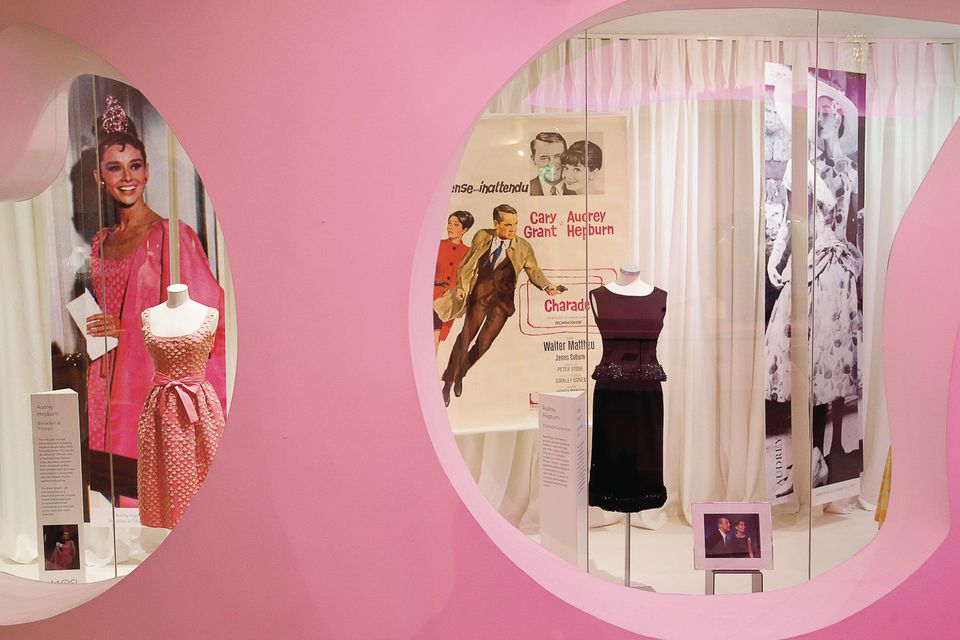 Audrey, pretty in pink and mysterious in black, at the Museum of Style Icons in Newbridge
