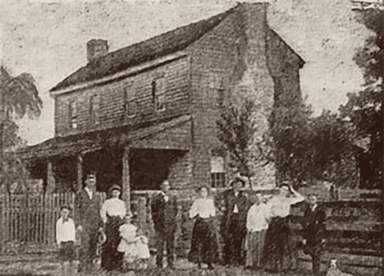 The Surrency house and family
