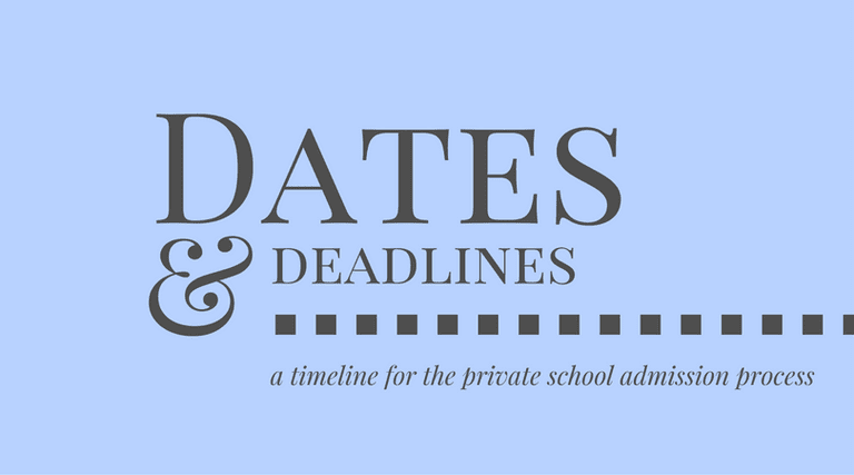 private school admission timeline