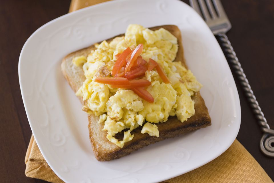 Avocado Toast with Creamy Soft Scrambled Egg Recipe ...