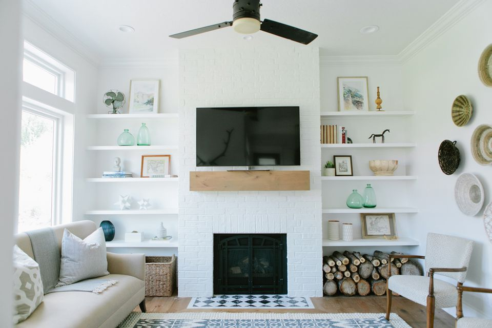 Ways To Refresh A Brick Fireplace - White brick interiors