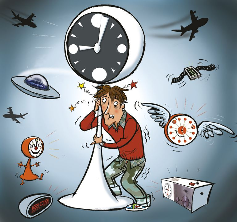 Learning how to adjust to a new time zone to avoid jet lag is helped by light exposure