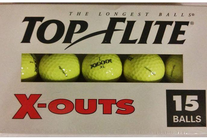TopFlite x-out golf balls