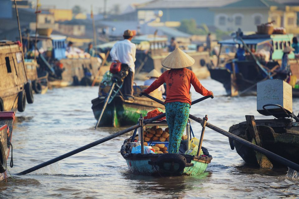 Vietnam, Mekong Delta, Can Tho, Cai Rang Floating Market