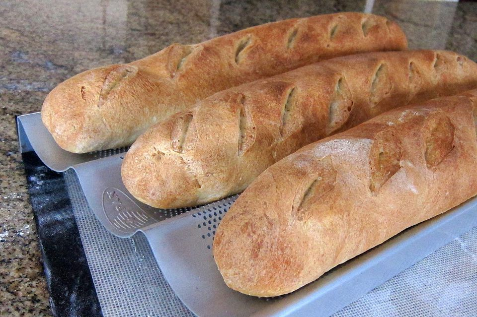 homemade French bread baguettes