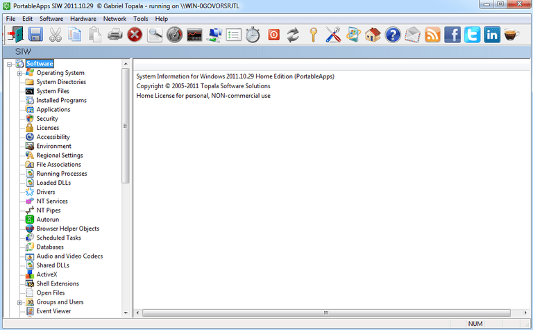 Screenshot of SIW v2011.10.29 in Windows 7