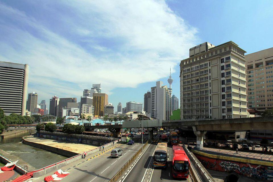 Street view of Kuala Lumpur